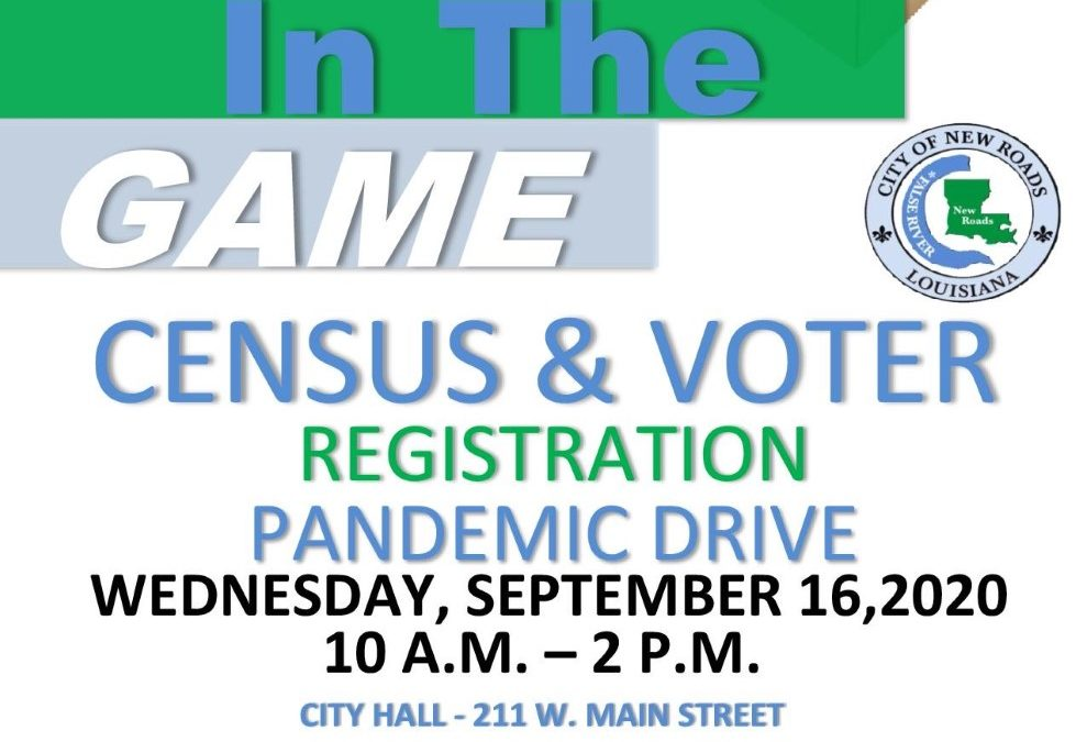 """Get in the Game"" Census & Voter Registration Pandemic Drive Rescheduled"
