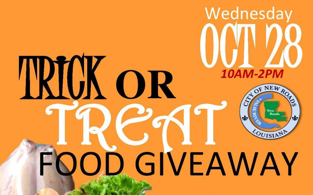 "City of New Roads Host ""Trick or Treat"" Drive-Thru Food Giveaway"